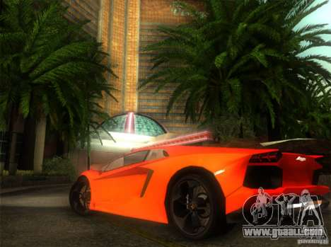 Lamborghini Aventador LP700 for GTA San Andreas back left view