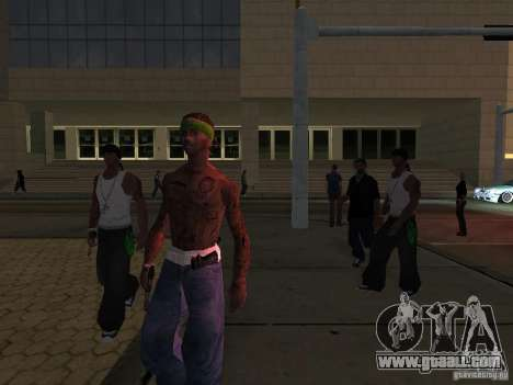 Replace all skins Grove Street Families for GTA San Andreas fifth screenshot
