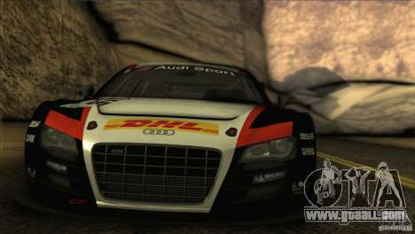 Audi R8 LMS for GTA San Andreas back view