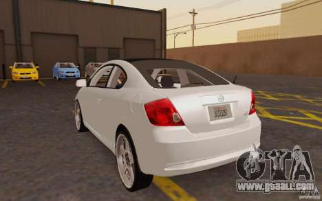 Scion tC for GTA San Andreas back left view