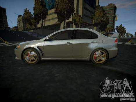 Mitsubishi Lancer Evolution X for GTA 4 left view