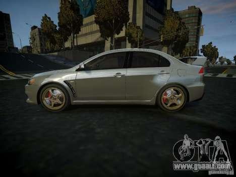 Mitsubishi Lancer Evolution X for GTA 4 left view