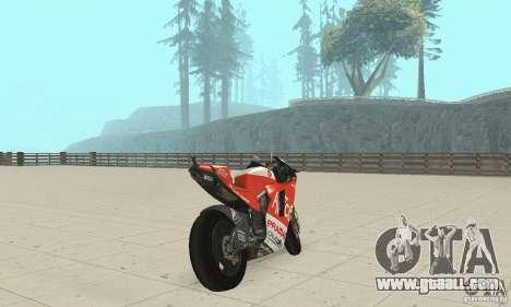 Ducati Alice GP for GTA San Andreas left view