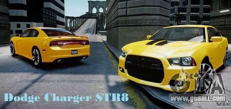 Dodge Charger SRT8 2012 for GTA 4