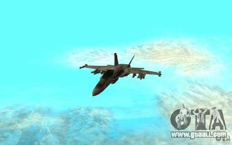 F-18 Hornet for GTA San Andreas left view