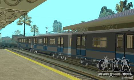 Rusich 4 train for GTA San Andreas right view