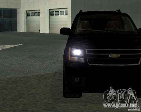 Chevrolet Tahoe BLACK EDITION for GTA San Andreas left view