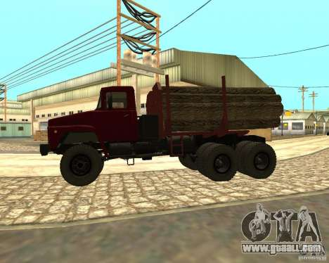 KrAZ-255 timber carrier for GTA San Andreas back left view