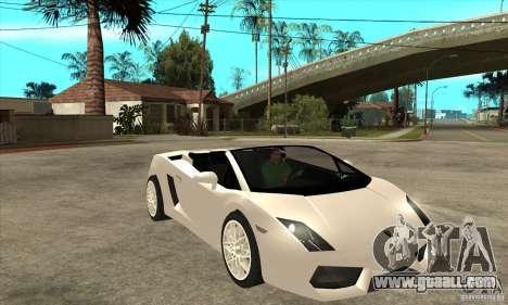 Lamborghini Gallardo Spyder v2 for GTA San Andreas back view