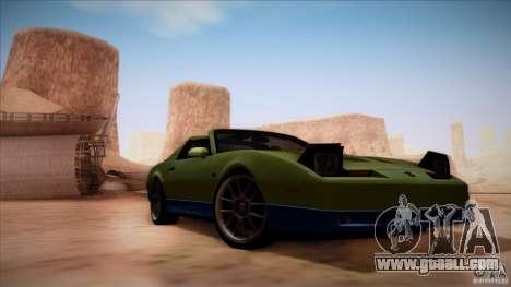 Pontiac Firebird Trans Am for GTA San Andreas back view