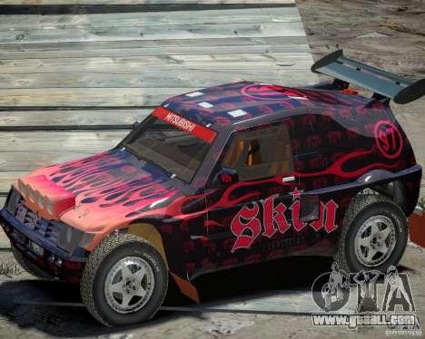 Mitsubishi Pajero Proto Dakar EK86 Vinyl 4 for GTA 4 back view