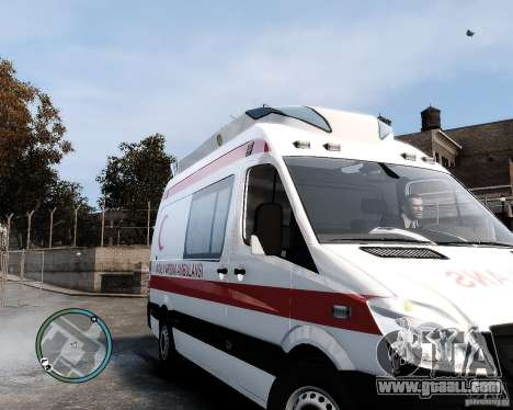 Mercedes Sprinter Turkish Ambulance for GTA 4 left view