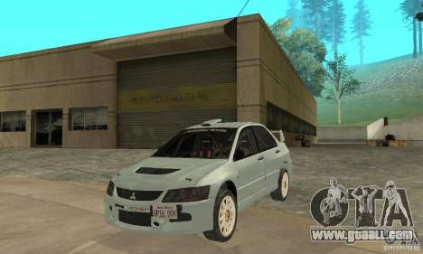 Mitsubishi Lancer Evolution IX for GTA San Andreas left view