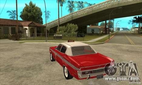 AMC Matador Taxi for GTA San Andreas back left view