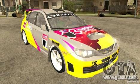 Subaru Impreza WRX STi X GAMES America of DIRT 2 for GTA San Andreas back view
