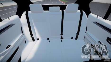 BMW M5 F10 2012 M Stripes for GTA 4 back view