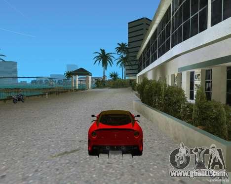 Ferrari 599 GTO for GTA Vice City back left view