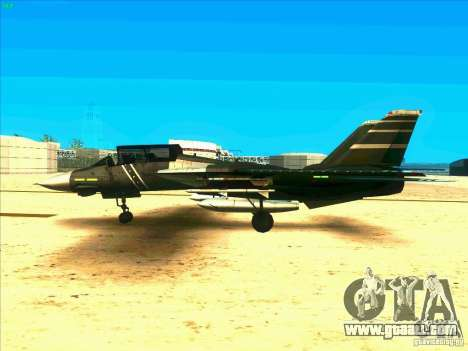 F-14 Tomcat Schnee for GTA San Andreas left view