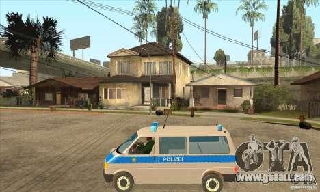 Volkswagen Transporter T4 German Police for GTA San Andreas left view