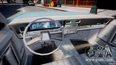 Chevrolet Impala 1983 [Final] for GTA 4 back view