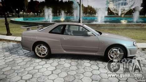Nissan Skyline GT-R R34 2002 v1 for GTA 4 inner view