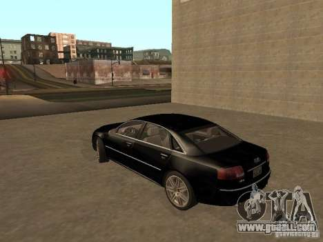 Audi A8 W12 S-Line for GTA San Andreas back left view