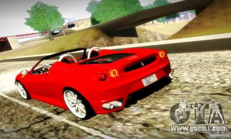 Ferrari F430 Spider for GTA San Andreas upper view