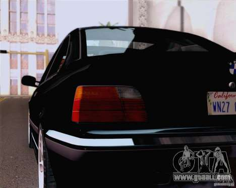 BMW M3 E36 New Wheels for GTA San Andreas back view