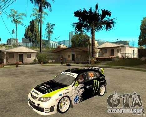 Ken Block Subaru Impreza WRX STi 2009 for GTA San Andreas