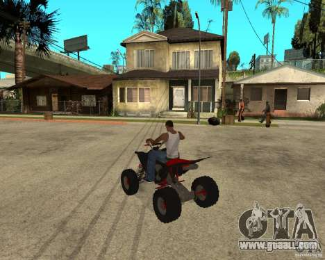 Yamaha YFZ450 for GTA San Andreas back left view