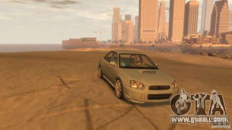 Subaru Impreza for GTA 4 back left view