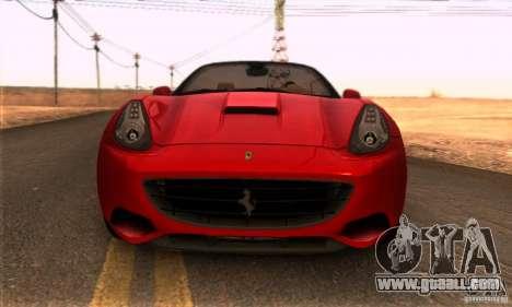 Ferrari California V3 for GTA San Andreas right view