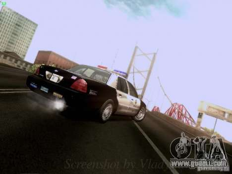 Ford Crown Victoria Los Angeles Police for GTA San Andreas side view