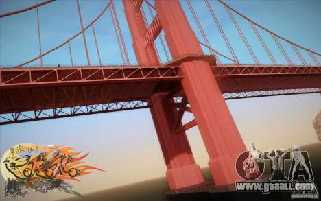 New Golden Gate bridge SF v1.0 for GTA San Andreas fifth screenshot