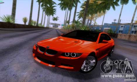 BMW M3 E92 v1.0 for GTA San Andreas back view