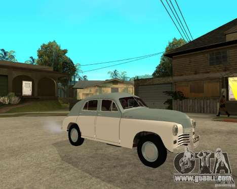 GAZ M20 Pobeda for GTA San Andreas right view