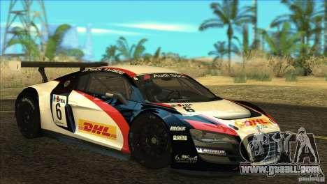 Audi R8 LMS for GTA San Andreas inner view