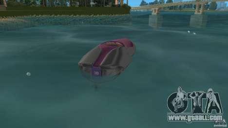 Bugatti Sang Bleu Speedboat for GTA Vice City back left view