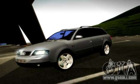 Audi A6 C5 Avant 3.0 for GTA San Andreas left view