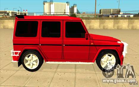 Mercedes-Benz G500 Brabus for GTA San Andreas inner view