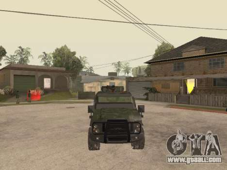 Oshkosh SandCat of Mexican Army for GTA San Andreas inner view