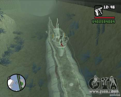U99 German Submarine for GTA San Andreas third screenshot