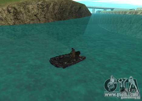 Zodiac inflatable boat for GTA San Andreas