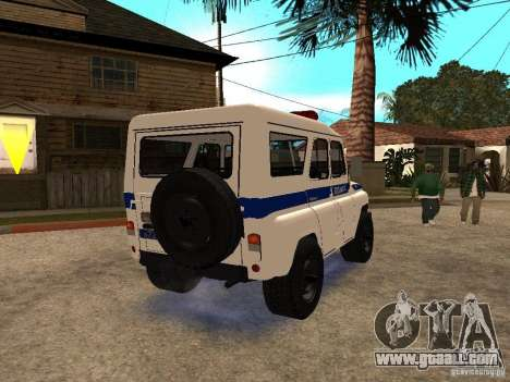 UAZ Police for GTA San Andreas right view