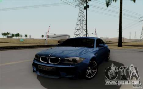 BMW 1M 2011 V3 for GTA San Andreas back view