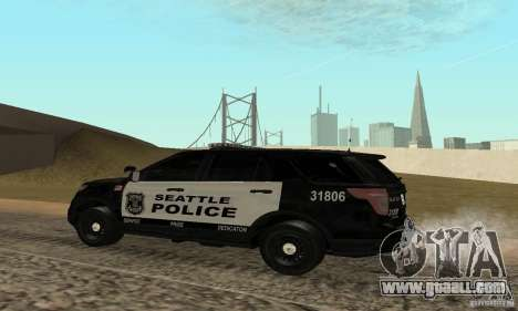 Ford Police Interceptor Utility 2011 for GTA San Andreas left view