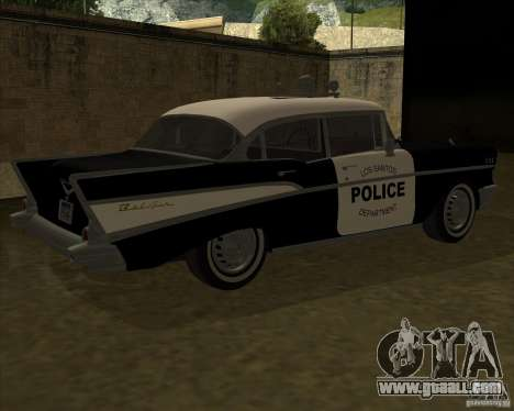 Chevrolet BelAir Police 1957 for GTA San Andreas back left view