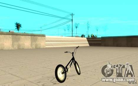 Trail Bike for GTA San Andreas back left view