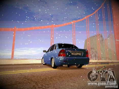 Lada Priora Turbo v2.0 for GTA San Andreas left view
