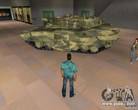 Camo tank for GTA San Andreas left view